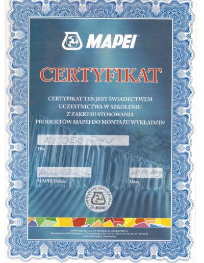 Mapei certyfikat-1